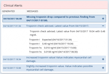 Troponin Monitoring and Alerts